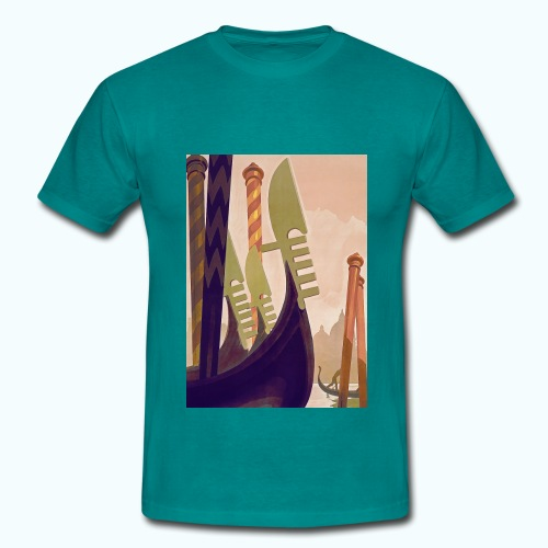 Venice vintage travel poster - Men's T-Shirt