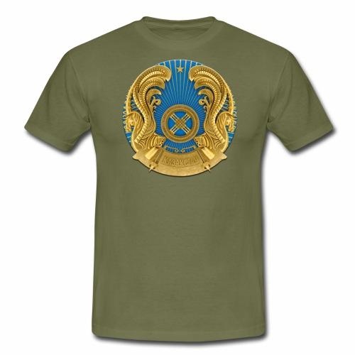 Kasachstan Казахстан Герб Wappen T-Shirts 2c - Männer T-Shirt