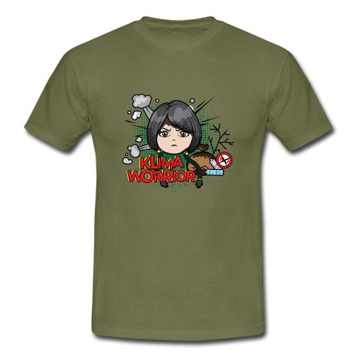 Klima, Climate, Worrior, Klimawandel - Männer T-Shirt