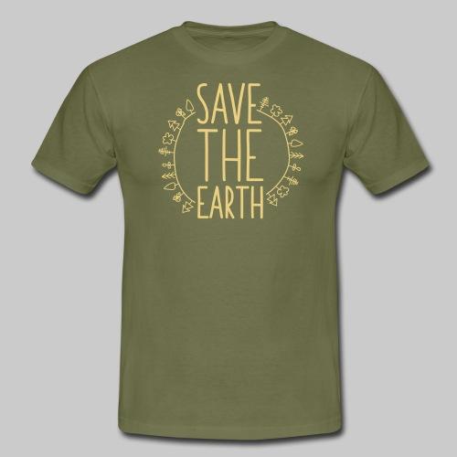 Safe the Earth - Männer T-Shirt