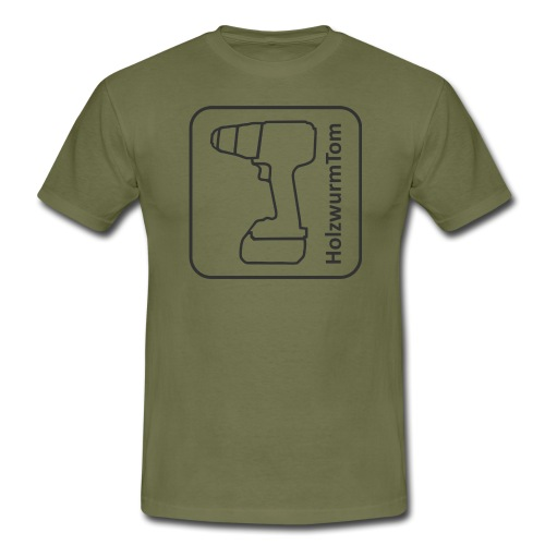 HolzwurmTom Logo grau hinten - Männer T-Shirt
