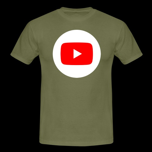 1024px YouTube social white circle 282017 29 svg - Männer T-Shirt