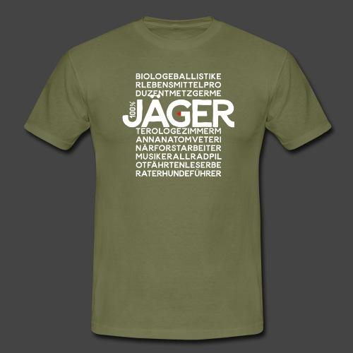100 Prozent Jäger- original Jägershirt - Männer T-Shirt