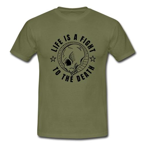 life is a fight, black print - T-shirt herr