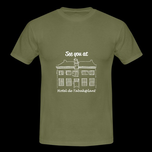 See you at Hotel de Tabaksplant WIT - Mannen T-shirt