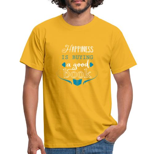 Happiness Is Buying A Good Book - blue - Men's T-Shirt