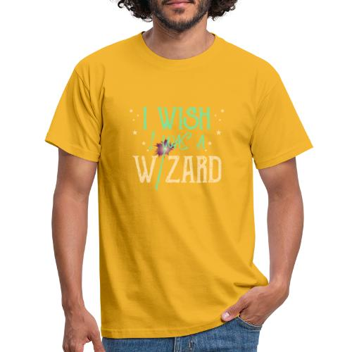 I Wish I Was A Wizard - Green - Men's T-Shirt