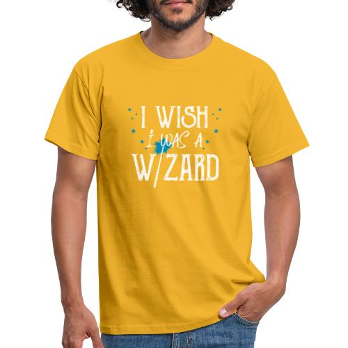 I Wish I Was A Wizard - White - Men's T-Shirt