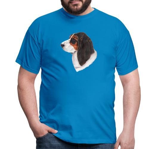 bassethound color - Herre-T-shirt