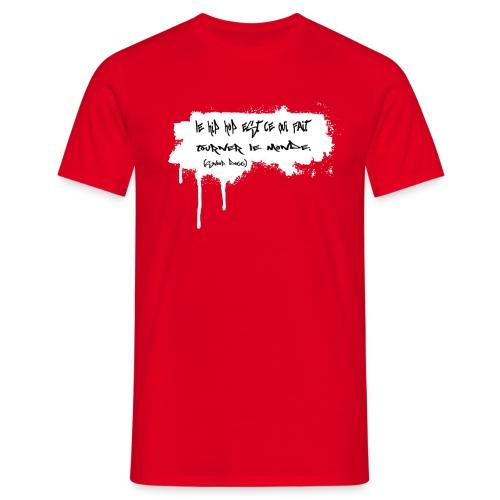 citation snoop noir - T-shirt Homme