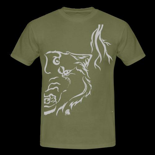 Silver Thunder Wolf Tribal - Männer T-Shirt