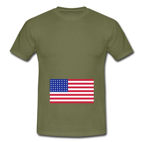 AVM WWII 48 star USA flag - multi color vector - Mannen T-shirt