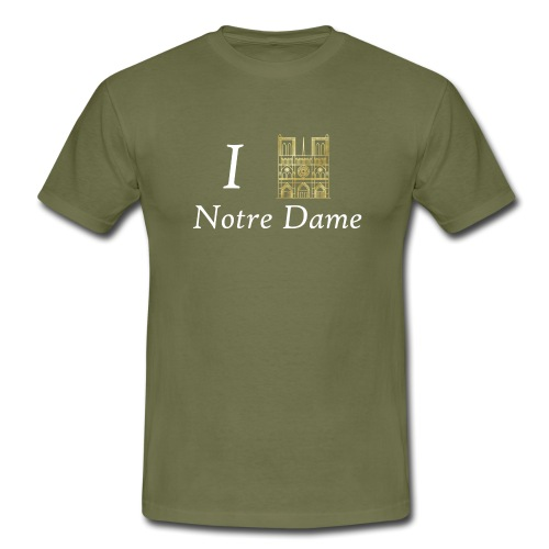 I love Notre-Dame - Männer T-Shirt