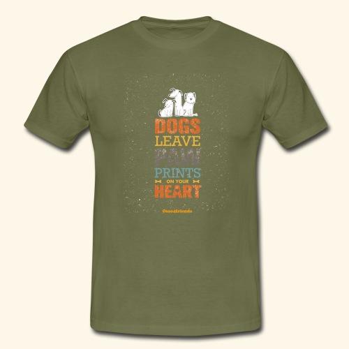 PAWPRINTONHEART - Maglietta da uomo