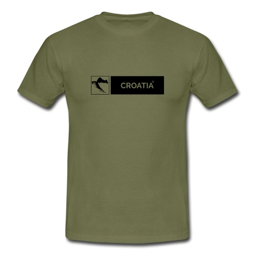 CROATIA X MAP | BOX DESIGN - Men's T-Shirt