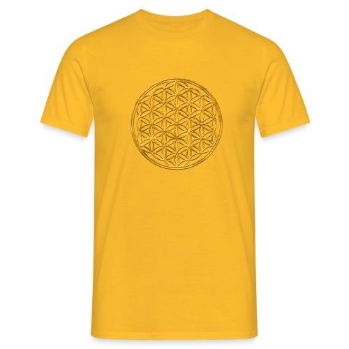 Flower of life GOLD 2 - Mannen T-shirt