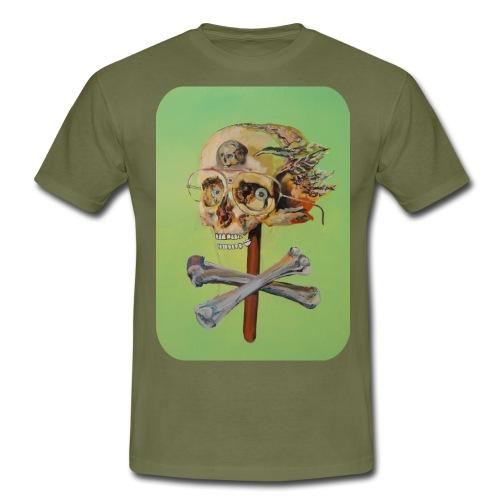 oil painting of skull and bones - Mannen T-shirt