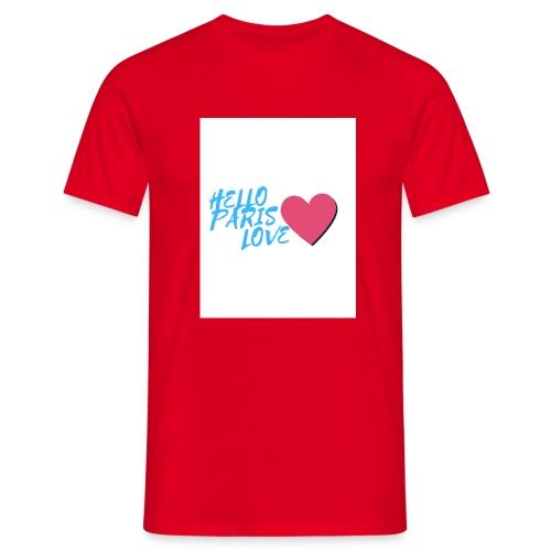 hello paris love bleu - T-shirt Homme