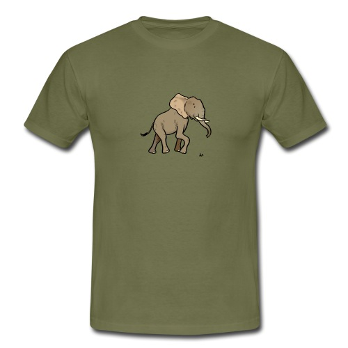 African Elephant - Men's T-Shirt