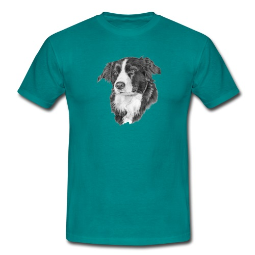 border collie 1 - Herre-T-shirt