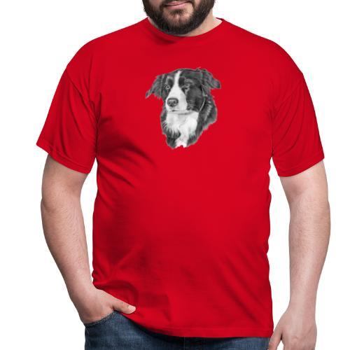 border collie 1 - Herre-T-shirt