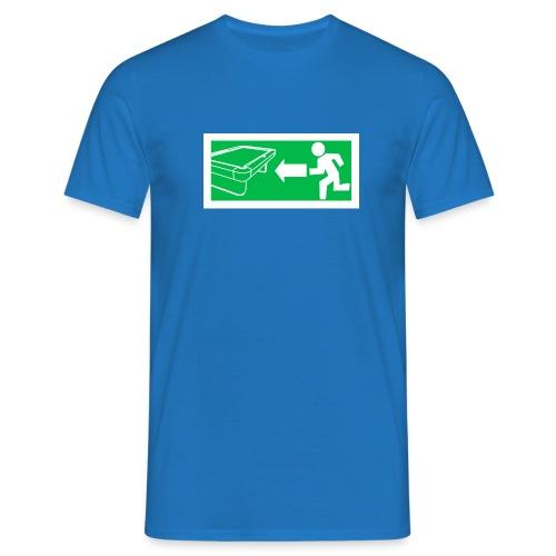 "Billard Shirt ""Notausgang Billard"" - Pool Billard - Männer T-Shirt"