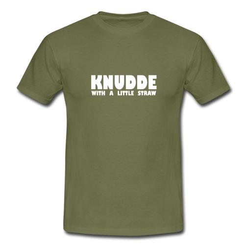 Met een rietje - Mannen T-shirt