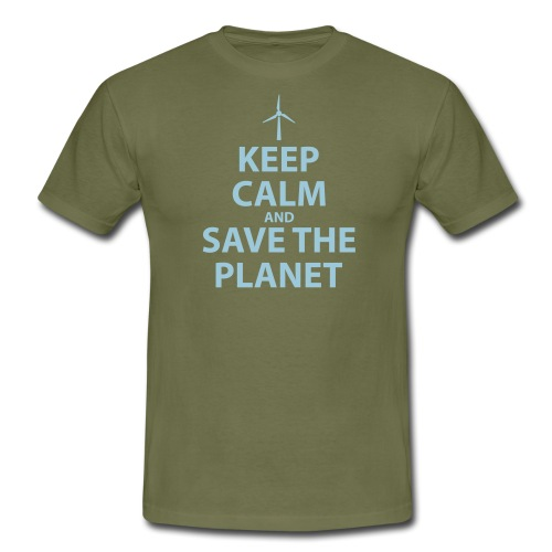 Keep Calm and Save The Planet - Men's T-Shirt