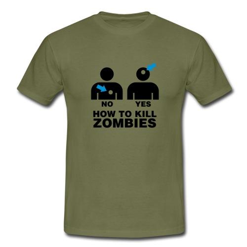 How to kill Zombies - T-shirt herr