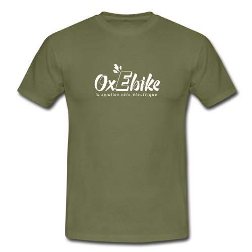 LOGO OX Ebike blanc 1 - T-shirt Homme