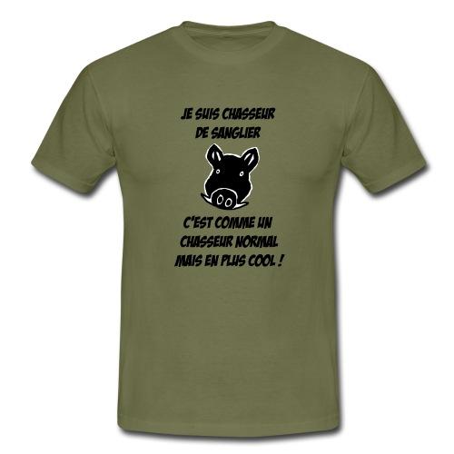 Chasseur de sanglier, c'est COOL ! - T-shirt Homme