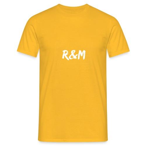 R&M Large Logo tshirt black - Men's T-Shirt