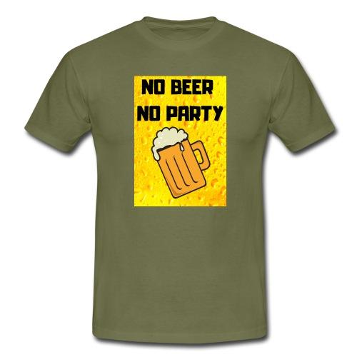 No beer no party - Maglietta da uomo