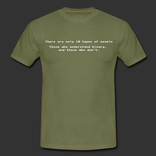 geek understandbinary - T-shirt herr