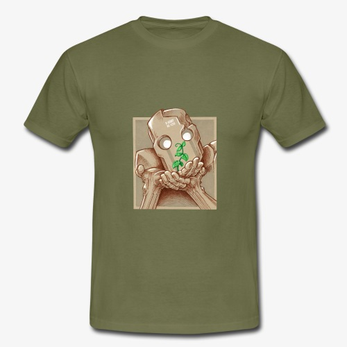 robot plant leaf leaves war - T-shirt Homme