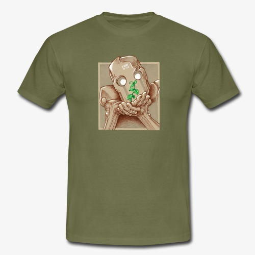 robot plant leaf leaves war - T-shirt Homme