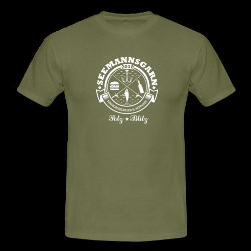 geweihbär Seemannsgarn 3 weiss - Männer T-Shirt