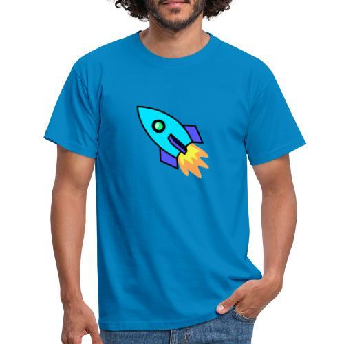 Blue rocket - Men's T-Shirt