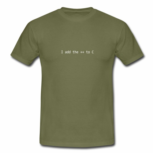 I add the ++ to C - Men's T-Shirt