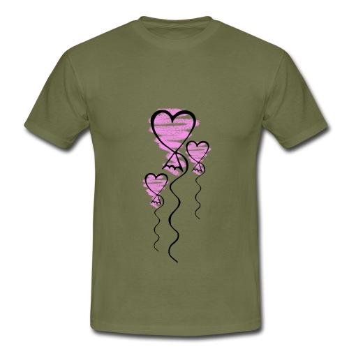 Herzballons - Männer T-Shirt