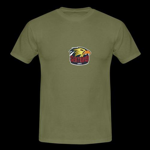 Sektion9 Logo GELB - Männer T-Shirt