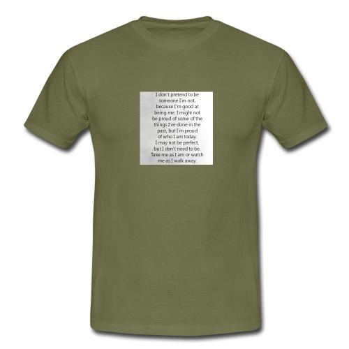 Be true, Be you - Männer T-Shirt