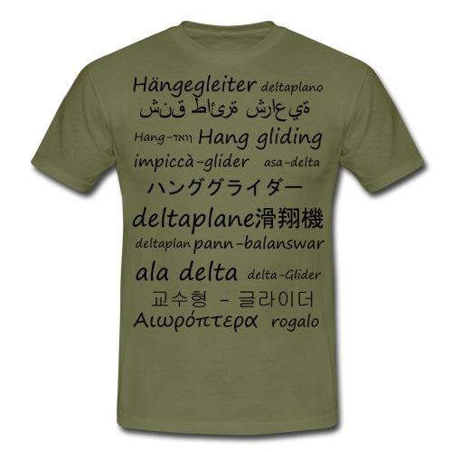 deltaplane en plusieurs langues - T-shirt Homme