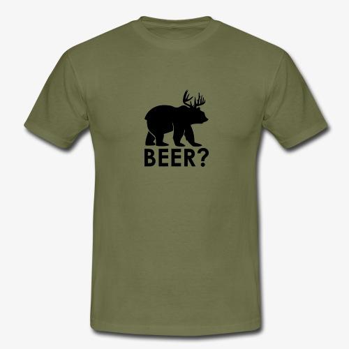Beer? Bier/Bär - Bear Motiv T-Shirt - Männer T-Shirt