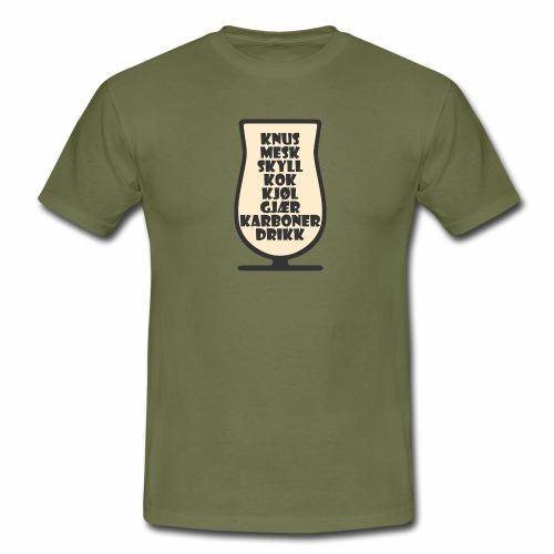Bryggeglass - T-skjorte for menn