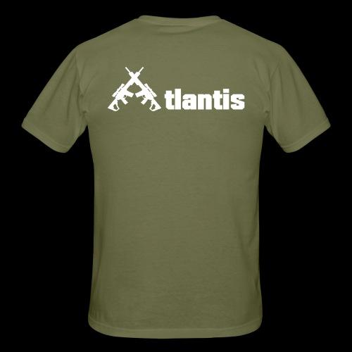 Atlants ruecken weiss - Männer T-Shirt