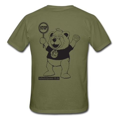 FUPO der Bär. Druckfarbe schwarz - Männer T-Shirt
