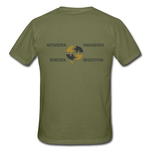Ein Puzzel setzt sich zusammen - Männer T-Shirt
