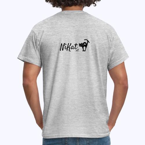 Nikat logo schwarz - Männer T-Shirt