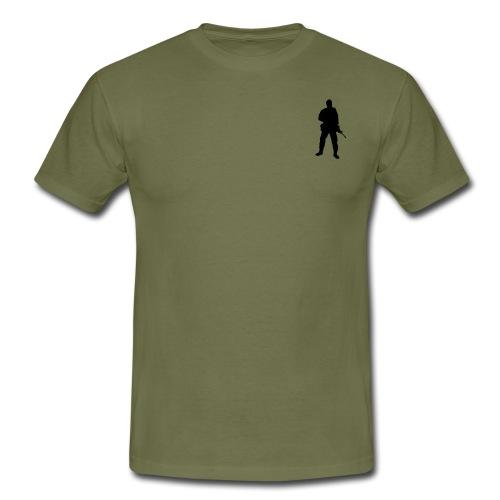 Swedish soldier + SWE Flag - T-shirt herr
